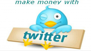 A cartoon picture of a blue bird winking its eye, while holding a Twitter sign
