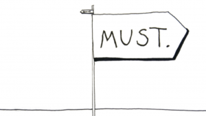 a black and white picture of mast on a flag