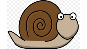 a cartoon picture of a snail