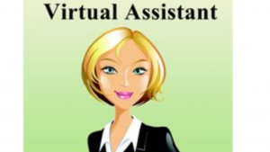 a color cartoon picture of a female Virtual Assistant