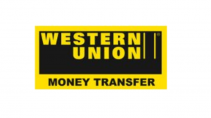A screen shot of the western union logo