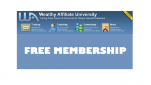 A screen shot of Wealthy Affiliates website, membership, and list of benefits