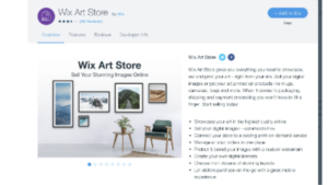 a screen shot picture of Wix Ecommerce
