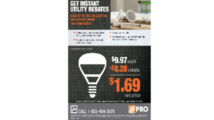 A picture of an instant utility rebate