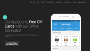 a screenshot picture of AppBounty website gift card deals