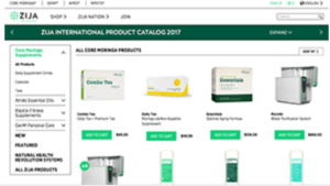 screenshot picture of zija international products