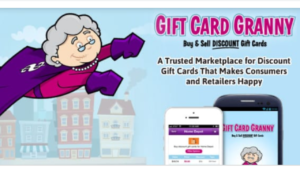 screenshot pictures of Gift Card Granny website