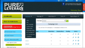 A screen shot of the pure leverage website