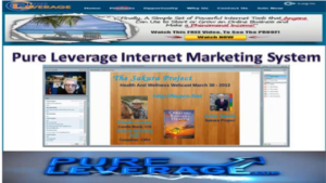 screen shots of the pure leverage website