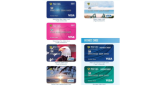 a screenshot picture of multiple different visa debit cards