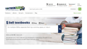 screenshot pictures of TextBookRush homepage