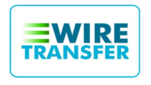 A screen shot picture of wire transfer
