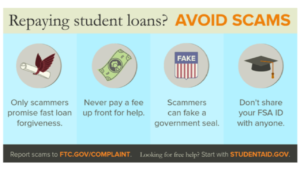 Repaying Student Loans Scam Debt Relief Operator Ad, Screen Shot