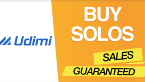 A screen shot of the words Udimi Buy Solo Solos Sales Guaranteed