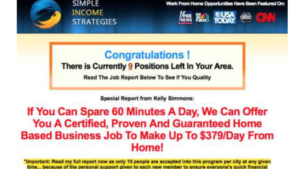 A screen shot of simple income strategies website
