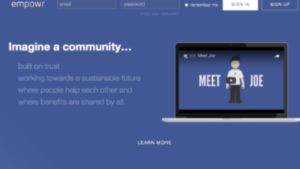 A screen shot picture of Empowr homepage