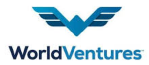 Color Blue and white Screen shot of World Ventures logo